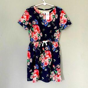 Gap girl's navy floral dress.